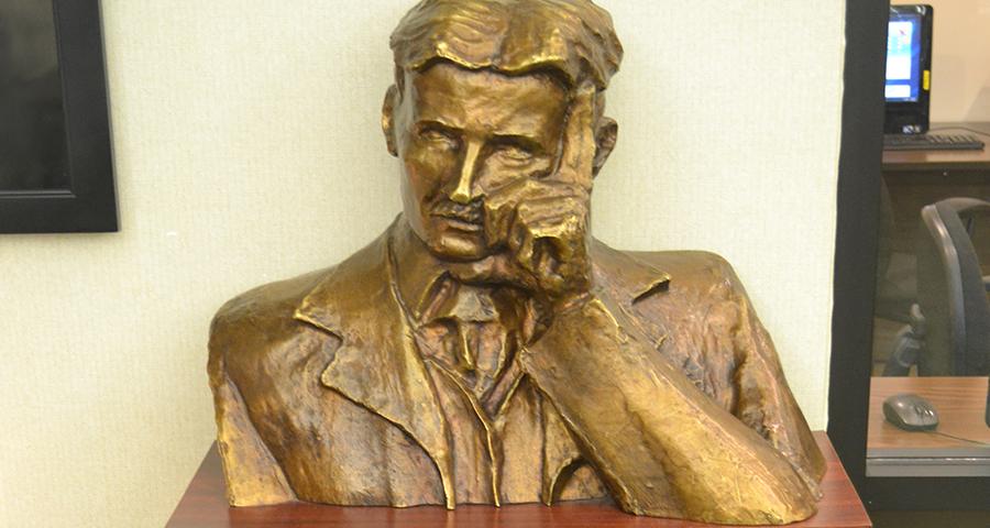 tesla statue new yorker